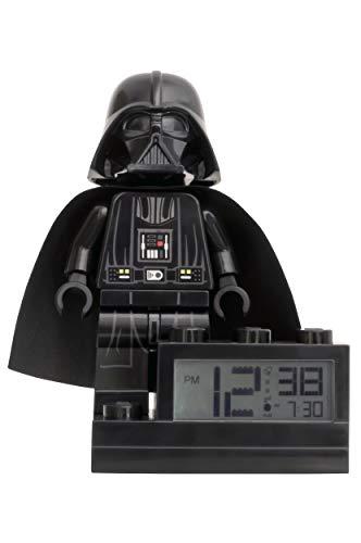 ClicTime Lego Star Wars Darth Vader Clock, 6 inches, (Alarm Lego Star Clock Wars)