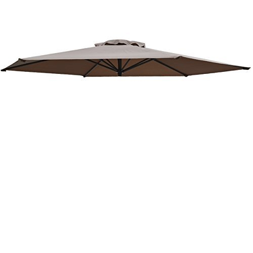 Cheap Umbrella Cover Canopy 9ft 6 Rib Patio Replacement Top Outdoor-TAUPE