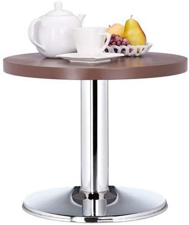 Winkel Relaxdays ronde bijzettafel H x D: 41 x 50 cm, decoratieve materiaalmix woonkamertafel, lage kindertafel, bruin  cbwiDq6