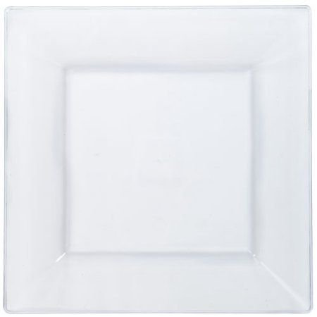 Green Direct 9.5 Inch Square Plates / White Party Dinner Plates Pack of 10