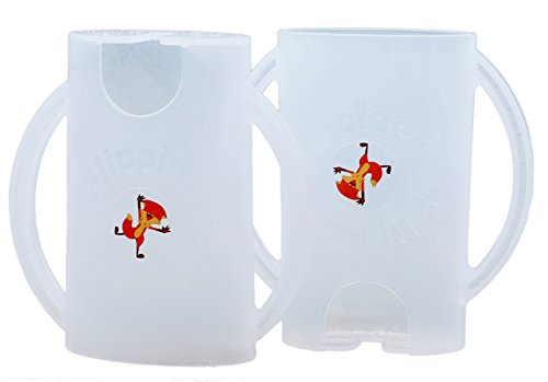 (Flipping Holder, Multipurpose Squeeze-Proof Food Pouch Holder and Juice Box Holder (Snow White x2))