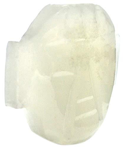 (Serene White Onyx Aragonite Buddha Face Pendant, 1.75