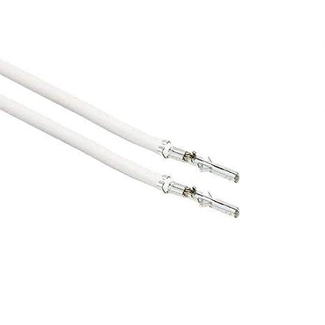 0039000059-08-W4-D Pack of 100 8 PRE-CRIMP A2015 WHITE
