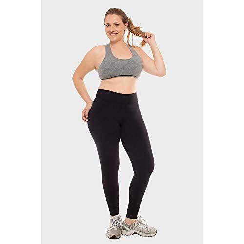 Calça Legging Plus Size Lisa Fitness Preto-0052