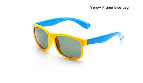 c6dc3c981408 Amazon.com: ARTORIGIN Polarized Sunglasses Kids Flexible Eyewear Square  Frame Baby UV400 Sun Glasses Oculos De Sol Infantil AO2080 (Yellow - Blue):  Clothing