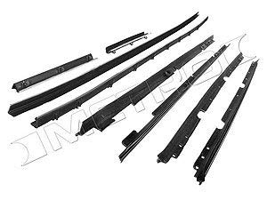 - Metro Moulded Parts WC 2008-18 8-Piece Window Sweeper Kit for Coupe with Deluxe Interior
