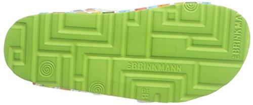 Dr.brinkmann Mens Luftsprutor Av Tifbett Pantoleten Glogss Material Tofflor Grön / Färgrik