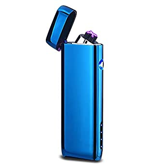 USB Windproof double fire arc lighter Outdoor Camping with Power Indicator-black JCTek