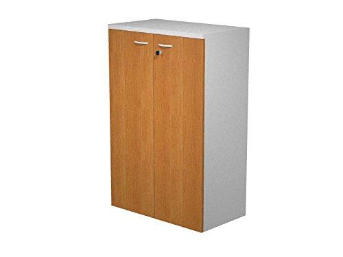 Mobile mit Schale in Laminat Melamin grau Aluminium mit Türen melamin Walnuss mit Schloss, MIS. 80x 33x 120H, Schrank mit 2Ablagen