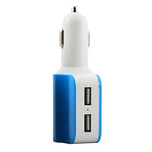 Car Charger,SMTSMT Car Cigarette Lighter Socket Splitter Charger Power Adapter (Blue) by SMTSMT (Image #1)