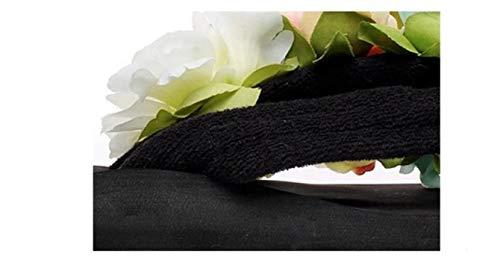 Medio Sandali Infradito Donna Coperta mo Floreale Tacco Donna Spiaggia Mr Antiscivolo Pantofole Sexy Da Decorazione Casual All'aperto Scarpe Vacanza Estate qwAIX6TWn