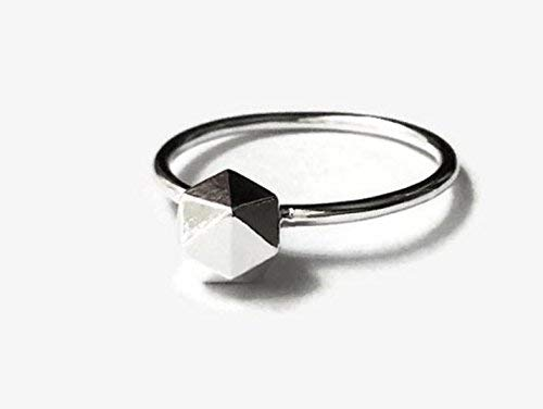 Geometric Nugget - Silver Rock Ring | Sterling Nugget | Geometric Jewelry | 925 Pebble