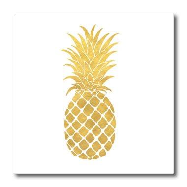 icturing Gold Glitz Pineapple Iron On Heat Transfer, 6