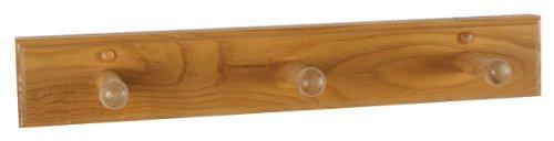 Design House 561225 Dalton Triple Robe Hook, Honey Oak (Oak Bathroom Accessories)