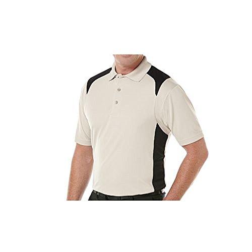 Grand Slam Mens Preformance Polo, Light Brown/black, Size Small (Grand Slam Polo Shirt)