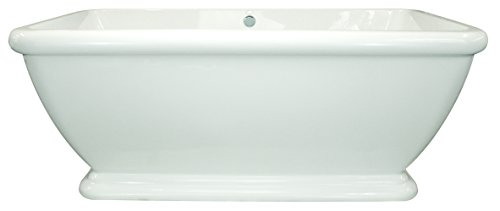 Hydro Systems MRC6636ATA-WHI Rockwell 6636 Thermal Air System Acrylic and Fiberglass Rectangular Freestanding Bathtub 99999 - 6636 Air
