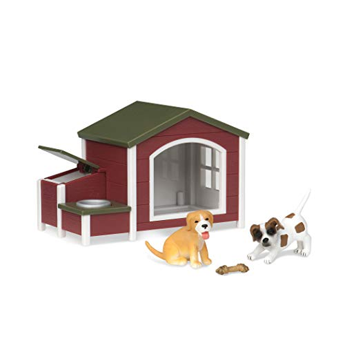 Terra by Battat – Dog House – Plastic Toy Dog Figure Playset for Kids 3-Years-Old & Up (4 Pc)