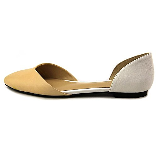 Cole Haan Crissy Skimmer Sandstone / Ivory Leather Flat D42733 Misura Donna 6 M