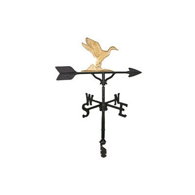 Gold Enamel Duck (Montague Metal Products 32-Inch Weathervane with Gold Duck Ornament)