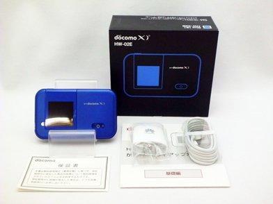 モバイルWi-Fiルーター HW-02E(ブルー)