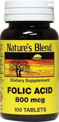 Cheap Folic Acid 800 mcg 800 mcg 100 Tabs