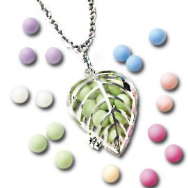 Aroma-AccentsTM Locket and Chain, Silver with Free Aroma Pearls ...