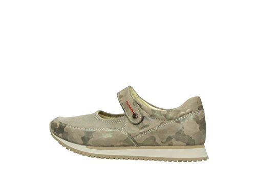 Wolky Troost Riemchenschuhe E-stap 30939 Camouflage Stretch Leer