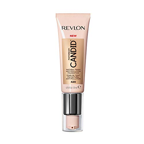 Revlon PhotoReady Candid Natural Finish Foundation, with Anti-Pollution, Antioxidant, Anti-Blue Light Ingredients, without Parabens, Pthalates and Fragrances; Sun Beige.75 Fluid Oz