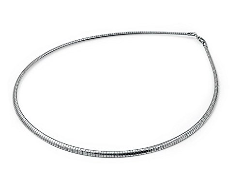 - Sterling Silver Omega Chain 3mm Solid 925 Italy New Necklace 16