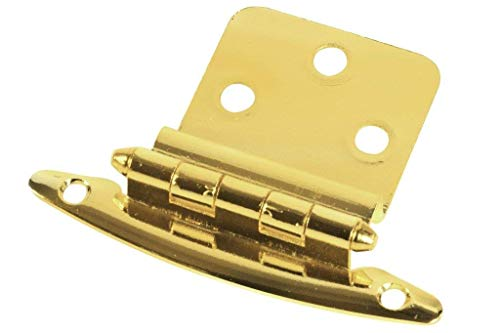 Style Selections #32154BBXLG - 2-3/4 in. (70mm) x 2-1/8 in. (54mm) Surface Cabinet Hinge - Polished Brass - 1 Pair (2 Hinges) (Pair Cabinet Polished Hinge Brass)