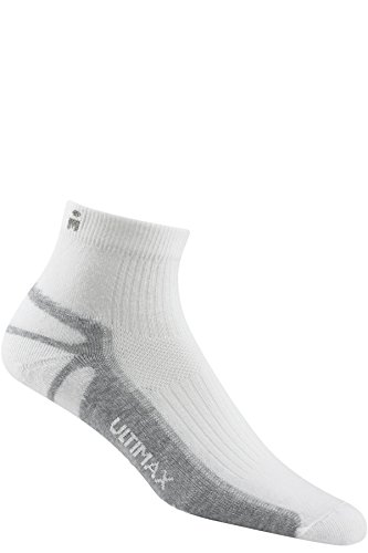 Wigwam Ironman Thunder Pro Quarter - White - Large with a Helicase brand sock ring