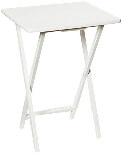 PJ Wood Folding TV Tray & Snack Table - White (Tray White Table)