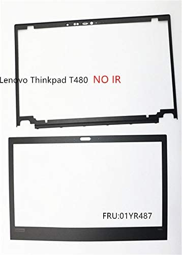 New Replacement for Lenovo Thinkpad T480 LCD Front Frame Bezel+Stickers NO//IR Hole 01YR487