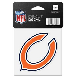 WinCraft NFL Chicago Bears 63040015 Perfect Cut Color Decal, 4