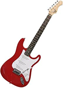 eleca double cutaway s style electric guitar red musical instruments. Black Bedroom Furniture Sets. Home Design Ideas