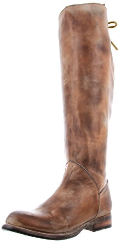 Bed Stu Women's Manchester Knee-High Boot, Tan Rustic/White, 8.5 M US
