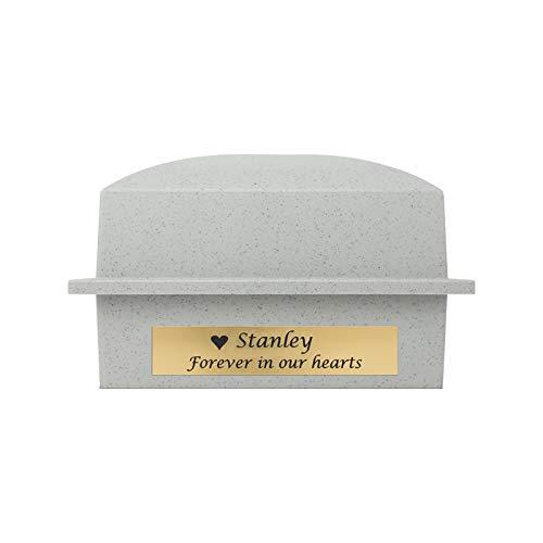 Cremation Urn Vault Polymer Urn Vault for Burial - Granite Grey Outdoor Memorial Vault - Engraving Sold Separately