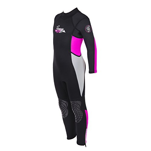 Kid's Youth Premium 3mm Child Wetsuit Good for Swim Surf Snorkel and Scuba Diving - UV Protection (Coral Pink, 10) (Suits Surf)