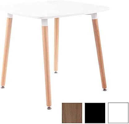 CLP Tavolo Quadrato da Cucina Viborg in Legno - Tavolino da Pranzo ...