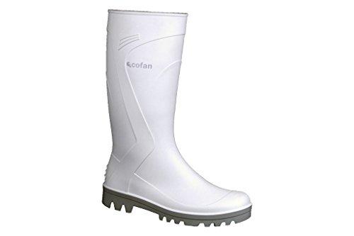 Weiß PVC Rainboots Gr. 42
