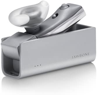 ERA by Jawbone Lightweight Bluetooth Headset with HD Sound, Charger Case Silver Cross