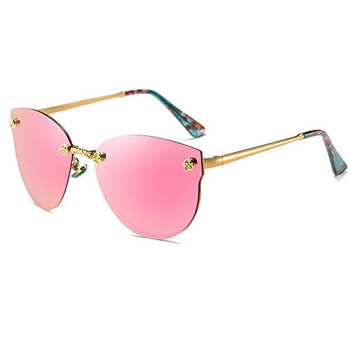 Morpho Diana Polarized Sunglasses for Men and Women (pink, - Inexpensive Best Sunglasses