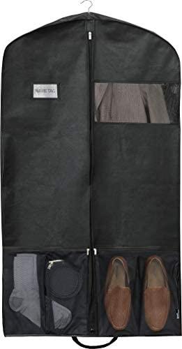 Simple Houseware 43-Inch Heavy Duty Garment Bag w/Pocket for Dresses, Coats