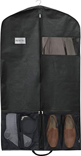 Simple Houseware 43-Inch Heavy Duty Garment Bag w/Pocket for Dresses, Coats