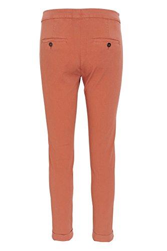 Brunello Cucinelli Pantaloni Donna 42 IT Corallo cotone aderente Taglio stretto
