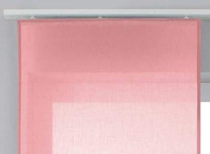 2019032 Gardinenbox Schiebegardine /»Nizza/« Baumwoll-Voile Halbvoile HxB 245x60 cm Creme Transparent Fl/ächenvorhang mit Paneelwagen und Beschwerungsstange
