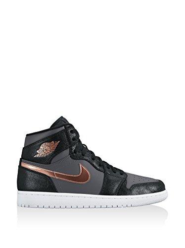 Nike Air Jordan 1 Retro High, Zapatillas de Baloncesto para Hombre Rojo (gym red/metallic silver-white)