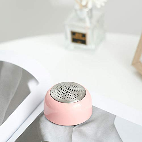 Mini Speaker Wireless Bluetooth Speaker Unique Magnetic adsorption Function Small Speaker Luminous FunctionHands-Free Call Function subwoofer Portable Stereo Speaker (Pink)