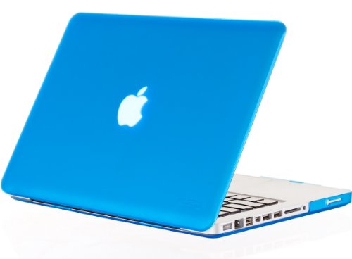 MacBook Pro 13.3 inch Case A1278 Older Verision, Kuzy Rubberized Matte Cover Hard Shell Case for MacBook Pro 13 inch with CD-ROM Release 2012-2008 - Aqua