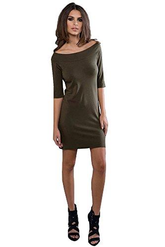 Jersey Boatneck Dress - 5